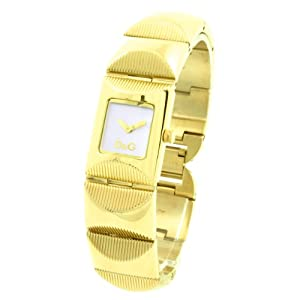 D&G Dolce&Gabbana DW0323 – Reloj analógico de mujer de cuarzo con correa de acero inoxidable dorada