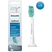Philips Sonicare Ersatzbürsten Original ProResults HX6018/07 gelangen an schwer erreichbare Stellen & passen auf jede Sonicare Zahnbürste mit Aufsteck-System – 8er Pack, Standard, Weiß