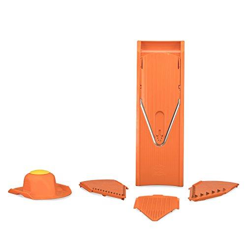 Börner V1 Gemüsehobel Starter Set orange, Kartoffelschneider, - Klingen Borner