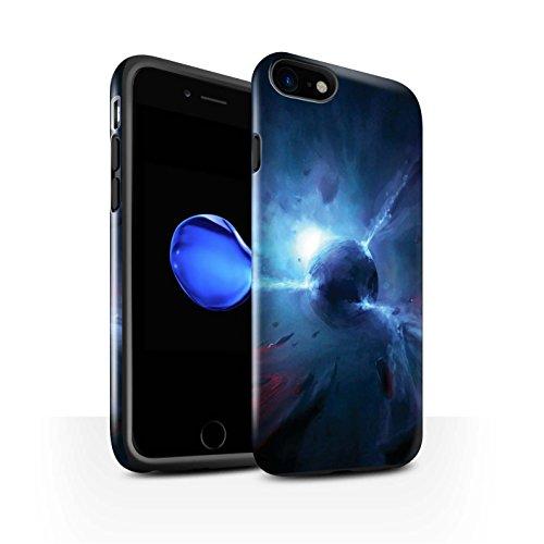 Offiziell Chris Cold Hülle / Glanz Harten Stoßfest Case für Apple iPhone 8 / Pack 6pcs Muster / Galaktische Welt Kollektion Pulsar/Neutron Stern