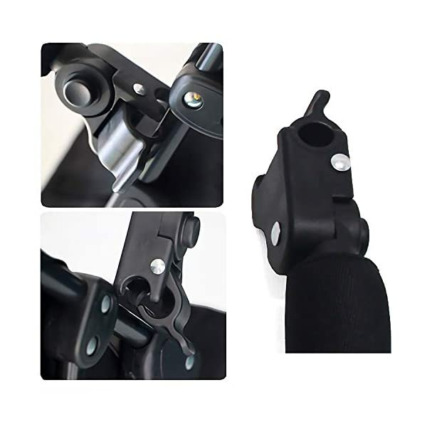 Baby Stroller Armrest, Joyhoop Pushchair Bar Compatible with Babyzen YOYO YOYO+ Yoya VOVO Babysing Hiwide YUYU Jeyhoop 【Baby Stroller Armrest】- The armrest is designed for protecting baby from collisions with walls, posts, people, obstacles, ensure your baby's protection wherever you go. 【More Intimate Design】- Feature a soft grip all around the front. If your baby leans too far forward, waves their arms, or kicks their legs and hits the armrest, the soft grip will protect them from painful bumps and bruises. 【Premiun Fabric】- The pushchair bar made of high quality oxford fabric and iron pipe, which is wear resistant, not easy to break, strong, lightweight and and is designed for long lasting use. 2