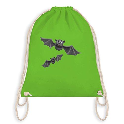 Halloween - süße Fledermäuse - Turnbeutel I Gym Bag Hellgrün