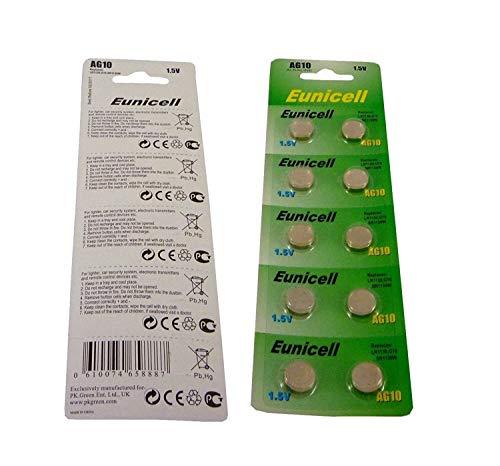 10er Blister AG10, AG 10, 389, LR1130 Batterien Knopfzellen