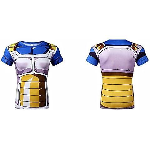 Vegeta - Dragon Ball/ Bola de Dragón: Camiseta - Talla M - Licra - Talla M Adultos-