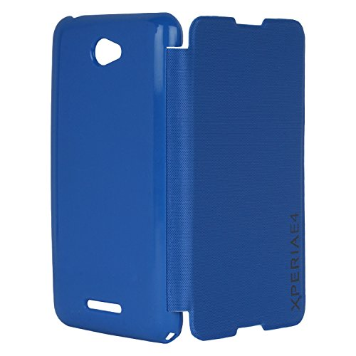 DMG Premium Diary Flip Book Cover Case for Sony Xperia E4 (Blue)  available at amazon for Rs.199