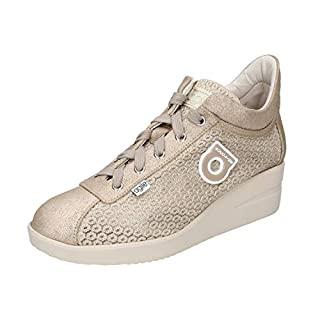 Agile by Rucoline 0226-82984 Sneakers Women Suede/Textile Gold Gold 39