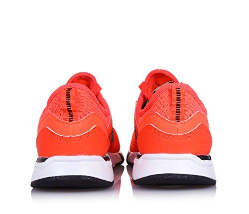 NEW BALANCE - Scarpa ginnica 274 Grand school stringata arancione fluo, in tessuto sintetico e microfibra, Bambino, Ragazzo Arancione