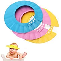 Nex Vox Adjustable Safe Soft Bathing Baby Shower Hair Wash Cap for Children, Baby Bath Cap Shower Protection for Eyes…