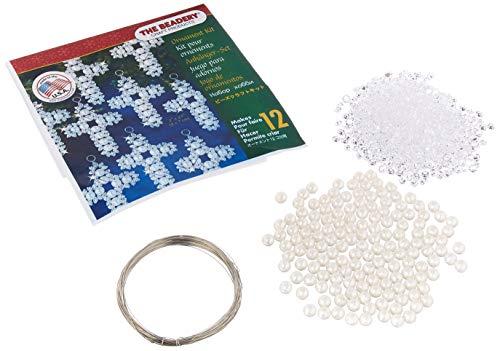 Holiday Beaded Ornament Kit-Pearl Cross Makes 12 -