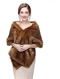 874ea7a0b013 Yzibei Nobile Sciarpe da Sposa da Donna con Scialle Invernale da Donna  Stole Calde Poncho per Abito da Cerimonia…