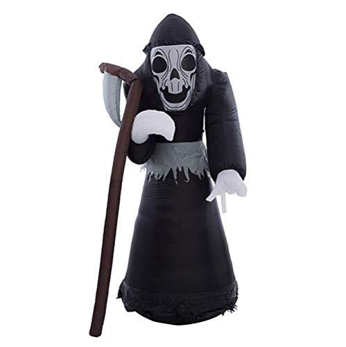 8 Fuß Aufblasbar Schwarz Geist Halloween Vampir Sichel LED Sprengen Beleuchtet Hof Urlaub Party Dekoration