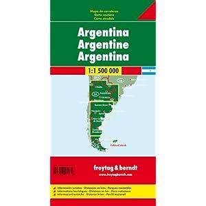 Argentina, mapa de carreteras. Escala 1:1.500.000. Freytag & Berndt. (Auto karte)