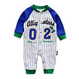 Hibote Baby Kleidung Stripes Baby Mädchen Jungen Spielanzug Baumwolllangarm Baby Overall Neugeborene Abnutzung