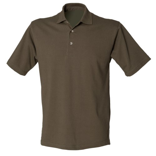Henbury Herren Polo-Shirt, unifarben Olive