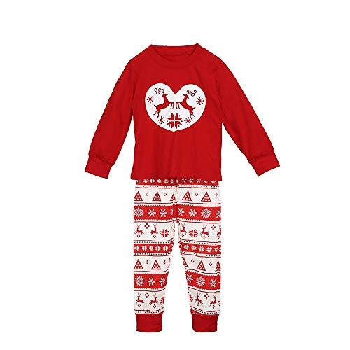 eb99313bee62a Pull moche - SANFASHION Ensemble de Pyjamas de Noël Assortis Famille – Papa  Maman Enfants vêtements de Nuit bébé Blouse Cerf de Noël (Rouge Enfant  2