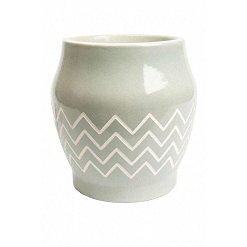 Yankee Candle Robyn MeltCup, Keramik, hellblau, weiß, 15.5 x 15 x 15.5 cm (Candle Scenterpiece Yankee)