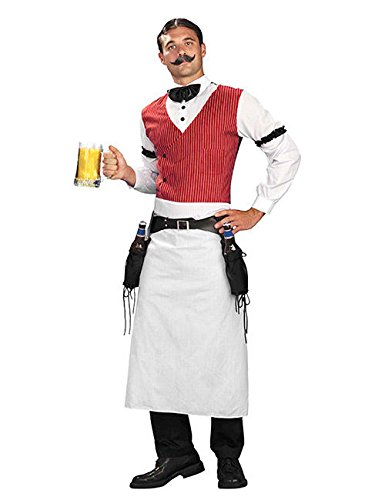 Preisvergleich Produktbild Saloon Barkeeper Kostüm Western weiss rot M/L