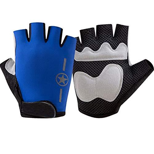 DCRYWRX Gym Gewichtheben Handschuhe, Outdoor-Reithandschuhe Schock Absorption Tragen Ultra-Dünnen Atmungsaktiv, Training, Fitness (Männer &Amp; Frauen),Blue -