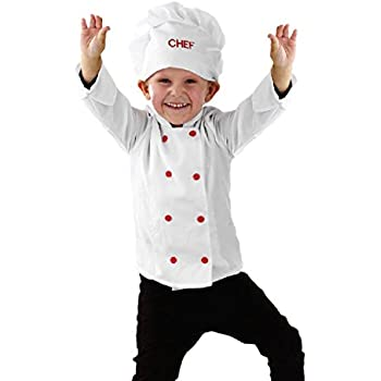chef kids costume 3 5 years pretend to bee toys games. Black Bedroom Furniture Sets. Home Design Ideas