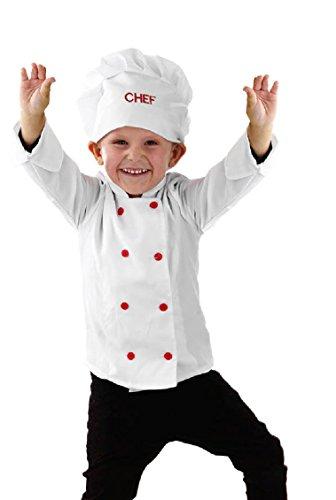 Kinder Kostüm Chef Koch Gr.M 6-8 (Kostüme Koch)
