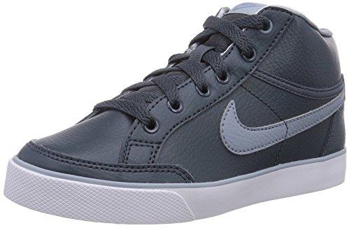 Nike Capri 3 Mid Leather Ps 599495-016 Jungen High-Top Sneaker Grau (Dk Mgnt Gry/Mgnt Gry-Lt Mgnt G), EU 32 (13.5 UK)