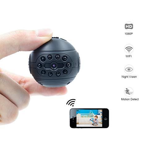 SHENGY WiFi IP Mini-Kamera Wireless 1080P HD Micro Action Cam DV DVR Infrarot-Nachtsicht-Bewegungserkennung Kleiner Camcorder, Geeignet für Sicherheit zu Hause, Kinderüberwachung