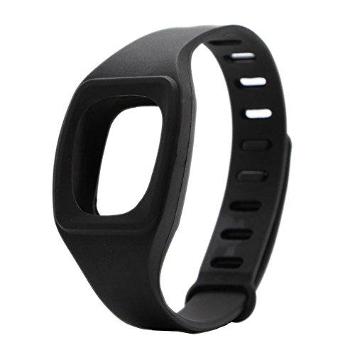 Fitbit HopCentury pulsera remotesreplaced cremallera correa con hebilla de Metal sujetador brazalete accesorio para Fitbit ZIP acabijo Negro negro