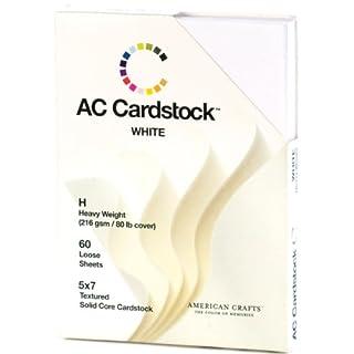 American Crafts, Papier, Karton, 12,7cm x 17,8cm 60/pkg-White