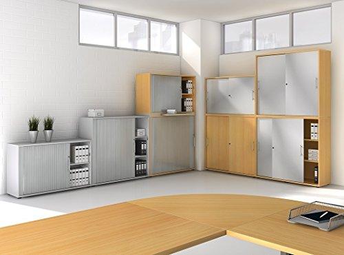Büroschrank design  ▷ Aktenschrank Nussbaum - Büroschrank-Wandsystem Nussbaum