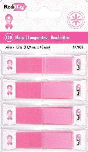Redi-Tag reditab Mama Cáncer Conciencia Pop-up banderas con dispensador, 1/2-inch (77002)