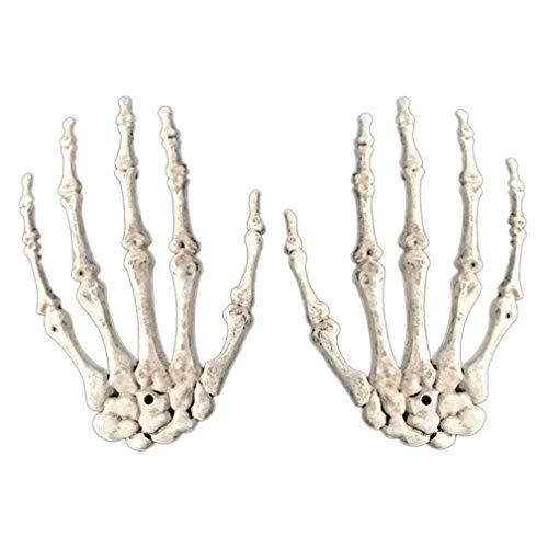 junkai 2pcs Menschliches Skelett Hände Knochen Leben Halloween -