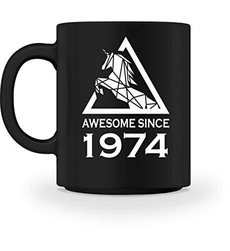 PlimPlom 1974 Geburtsjahr Kaffeetasse Einhorn Tasse Für Kaffee Tee Kakao - Geburtstag Geschenk Idee...