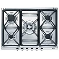 Smeg SE70SGH-5 hobs - Placa (Integrado, Gas, Plata, 68,5 cm, 50 cm, 0 mm)