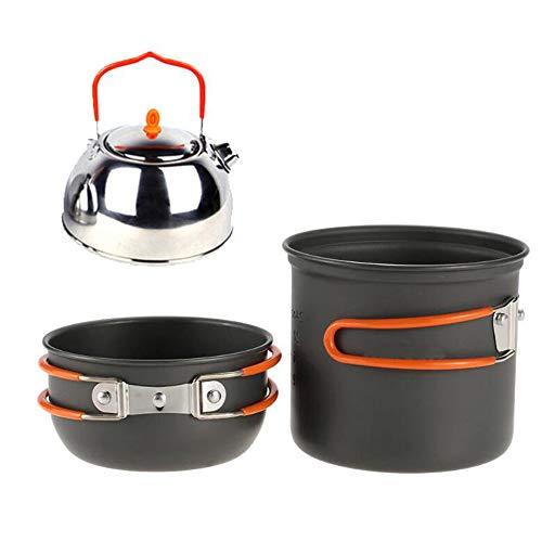 Sky God Tragbare Camping Kochgeschirr Kit Outdoor Kochen Ausrüstung Leichte Kochen Set für Outdoor Camping Kochen Kit Utensil Pot Pan Schüsseln Set Utensil Kit