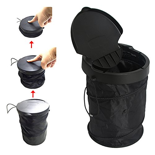 universal traveling portable car trash can Collapsible Pop-up Trash Bin With cover Garbage container holder