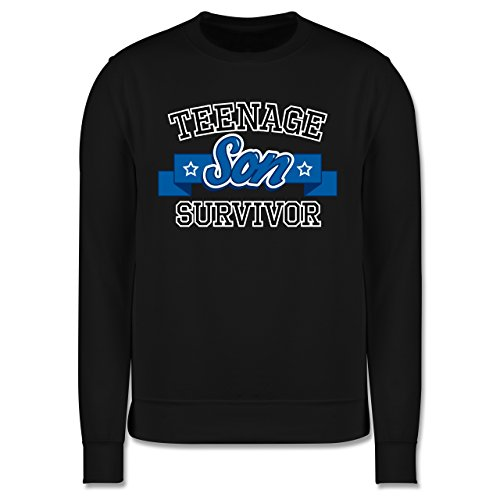 Vatertag - Teenage Son Survivor - Herren Premium Pullover Schwarz