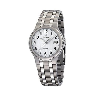 FESTINA F16460/1 - Reloj de caballero de cuarzo, correa de titanio color gris de Festina