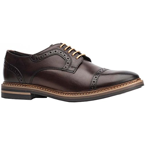 Base London Mens Butler Leather Shoes Marron