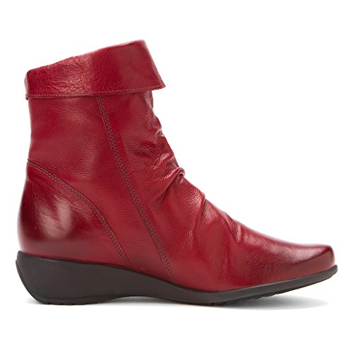 Mephisto Womens Seddy Texas Leather Boots Rouge
