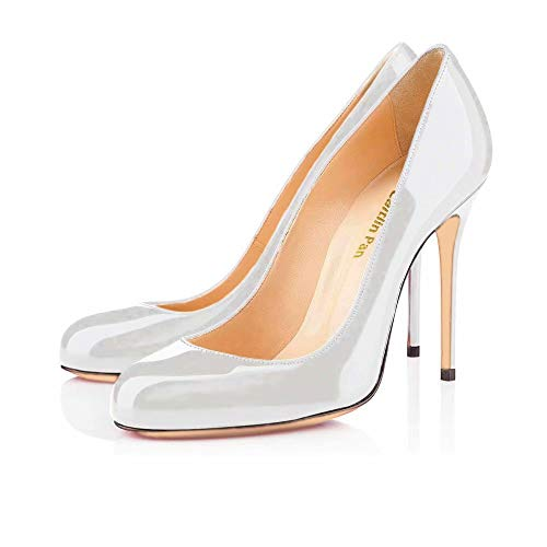 9461f03d268e6e Caitlin Pan Womens High Heel Pumps 10cm Round Toe Stiletto Pumps Classic  Sexy Court Shoes
