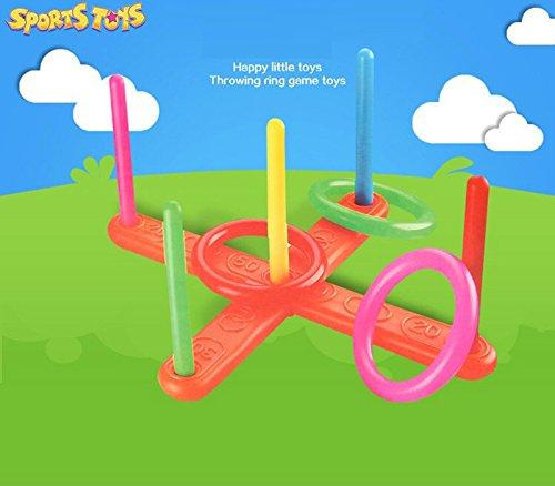JIUZHOU Bestes Online Spielzeug Shop Hoop Ring Werfen Kunststoff Ring Werfen Zitate Garten Spiel Pool Spielzeug Outdoor Fun Set
