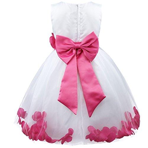 iEFiEL Mädchen Kleid Gr. 12 Jahre, Rosa - Hot Pink (Pink Hot Kinder Kleid)