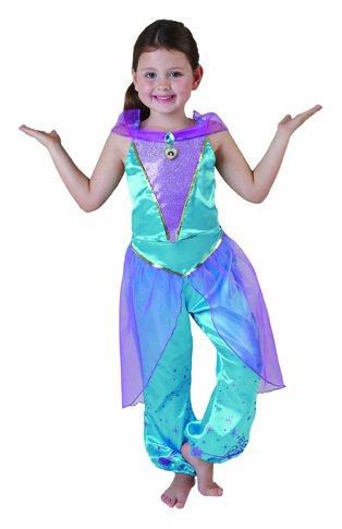 Disney Märchen Aladdin Kinder Kostüm Prinzessin Jasmin Größe 3-4 (Und Aladdin Prinzessin Kostüme Jasmin)