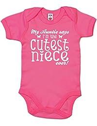 IiE, My Auntie says I'm the Cutest Niece ever!, Baby Girl Bodysuit
