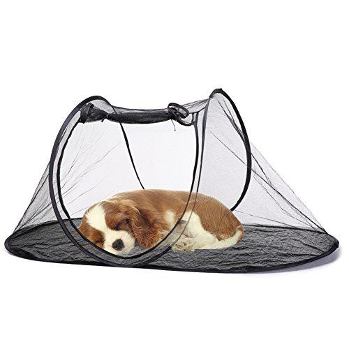 iBaste Hundezelt Hunde Laufställe für Klein Hunde Katzen Zwinger Faltbar Pet Zelt Haustier Zelt