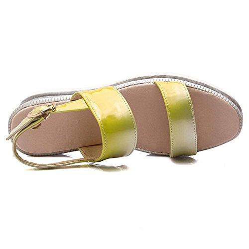 JOJONUNU Femmes Confort Plateforme Sandales yellow