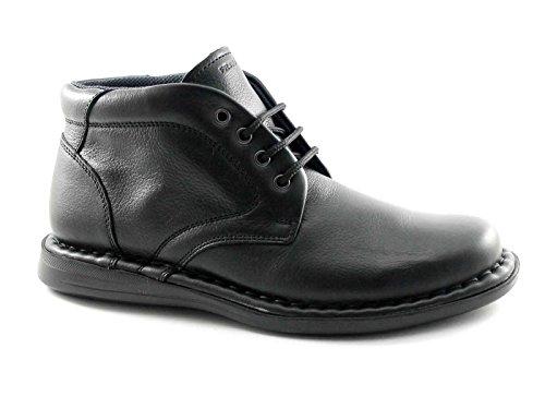 FRAU 38M2 homme noir chaussures milieu des bottes confortables en cuir lacets