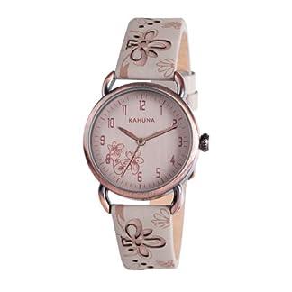 Kahuna KLS-0254L – Reloj analógico para Mujer, Correa de Cuero Color Beige