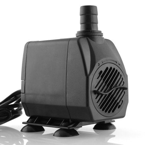 amzdeal® Bomba de Circulación de Agua, Sumergible, para Acuario de Agua Dulce y Salada, 60W 3000L / H. 3m de