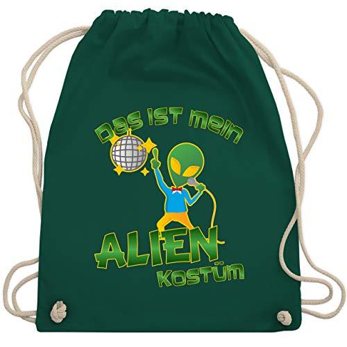 Themen Kostüm Alien - Karneval & Fasching - Das ist mein Alien Kostüm Disco - Unisize - Dunkelgrün - WM110 - Turnbeutel & Gym Bag